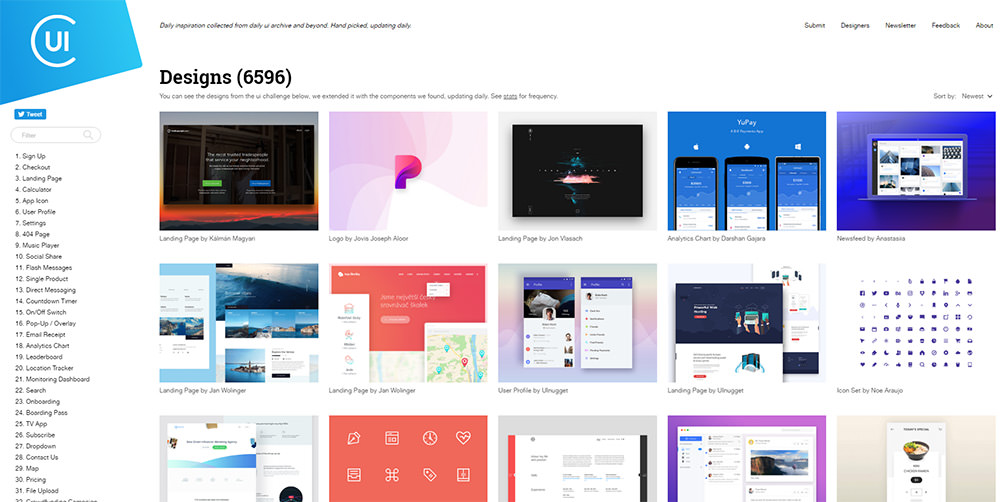 collect ui homepage