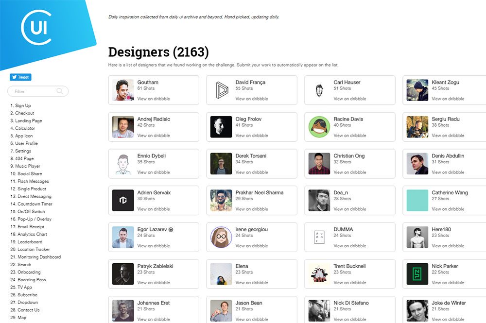 collect ui designers list