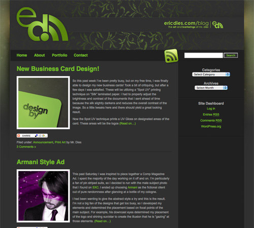 colorful blog design