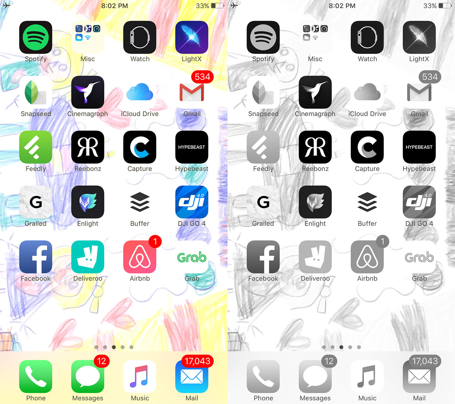 change to grayscale ios