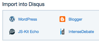 import to disqus