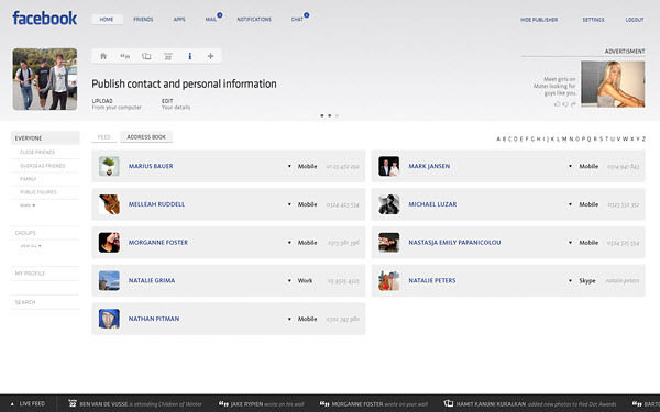facebook contacts page by barton smith