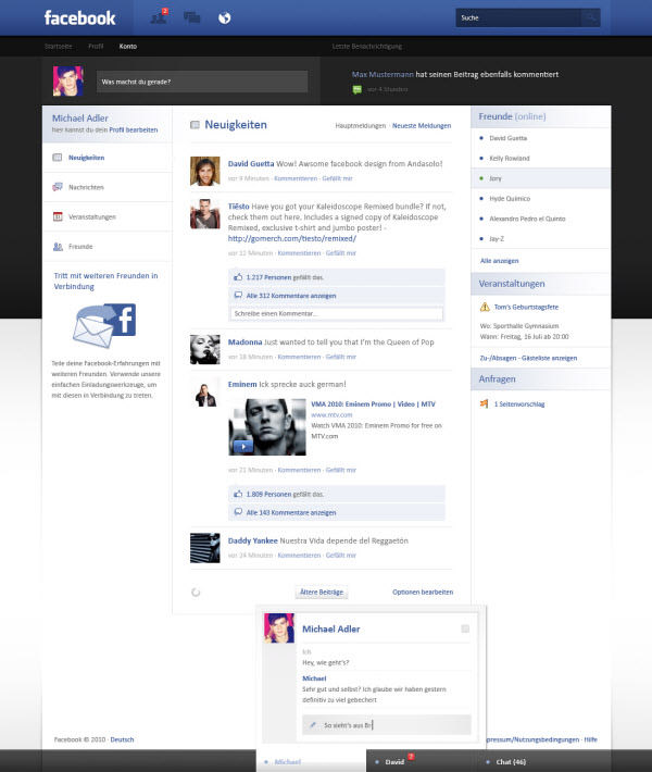 facebook main page by andasoloarts
