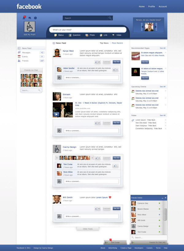 facebook main page by czarny-design