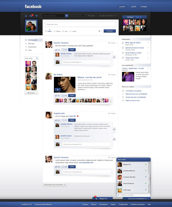 facebook main page by jonaska