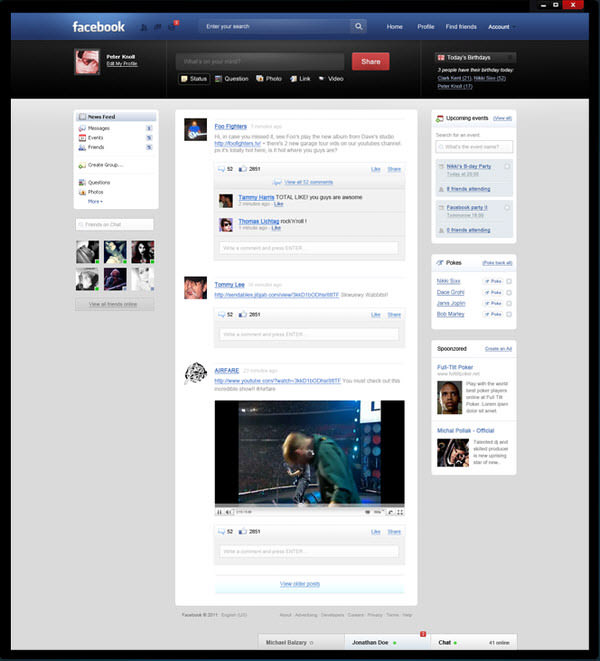 facebook main page by peter knoll