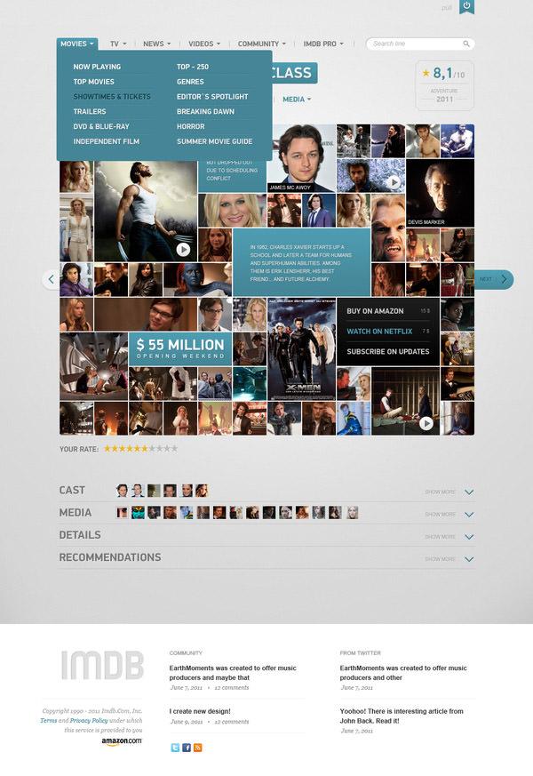 imdb menu by vladimir kudinov