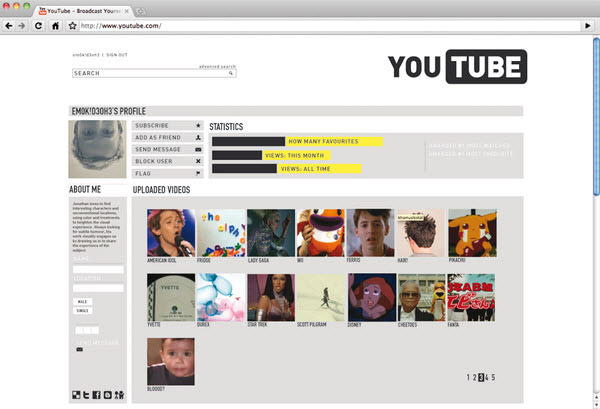 youtube user page by michele byrne