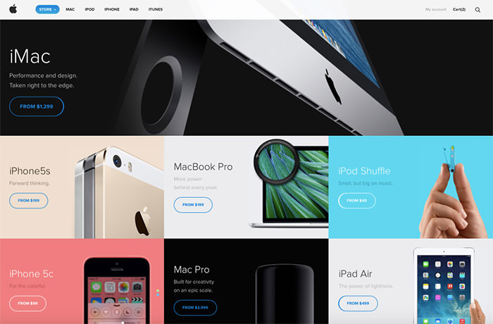 apple website redesign