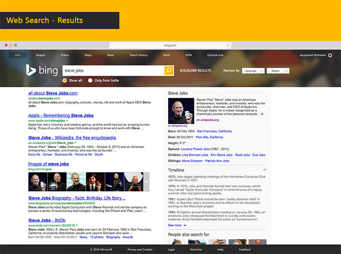 bing website redesign