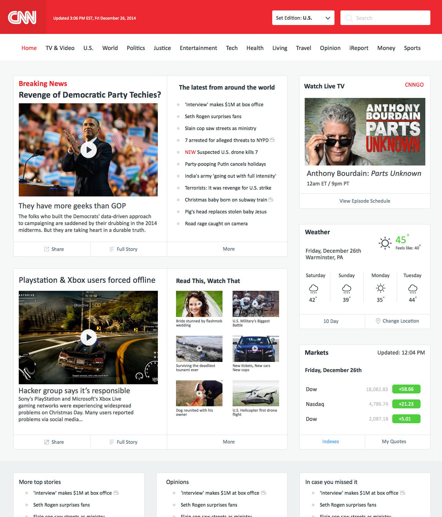 cnn website redesign