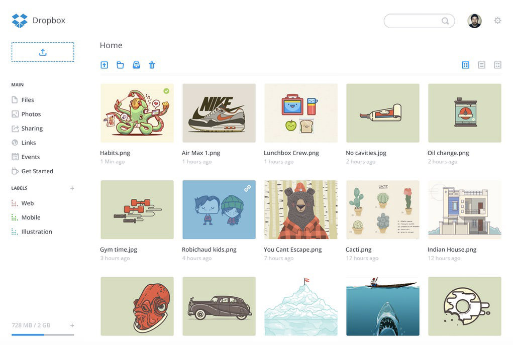 dropbox website redesign