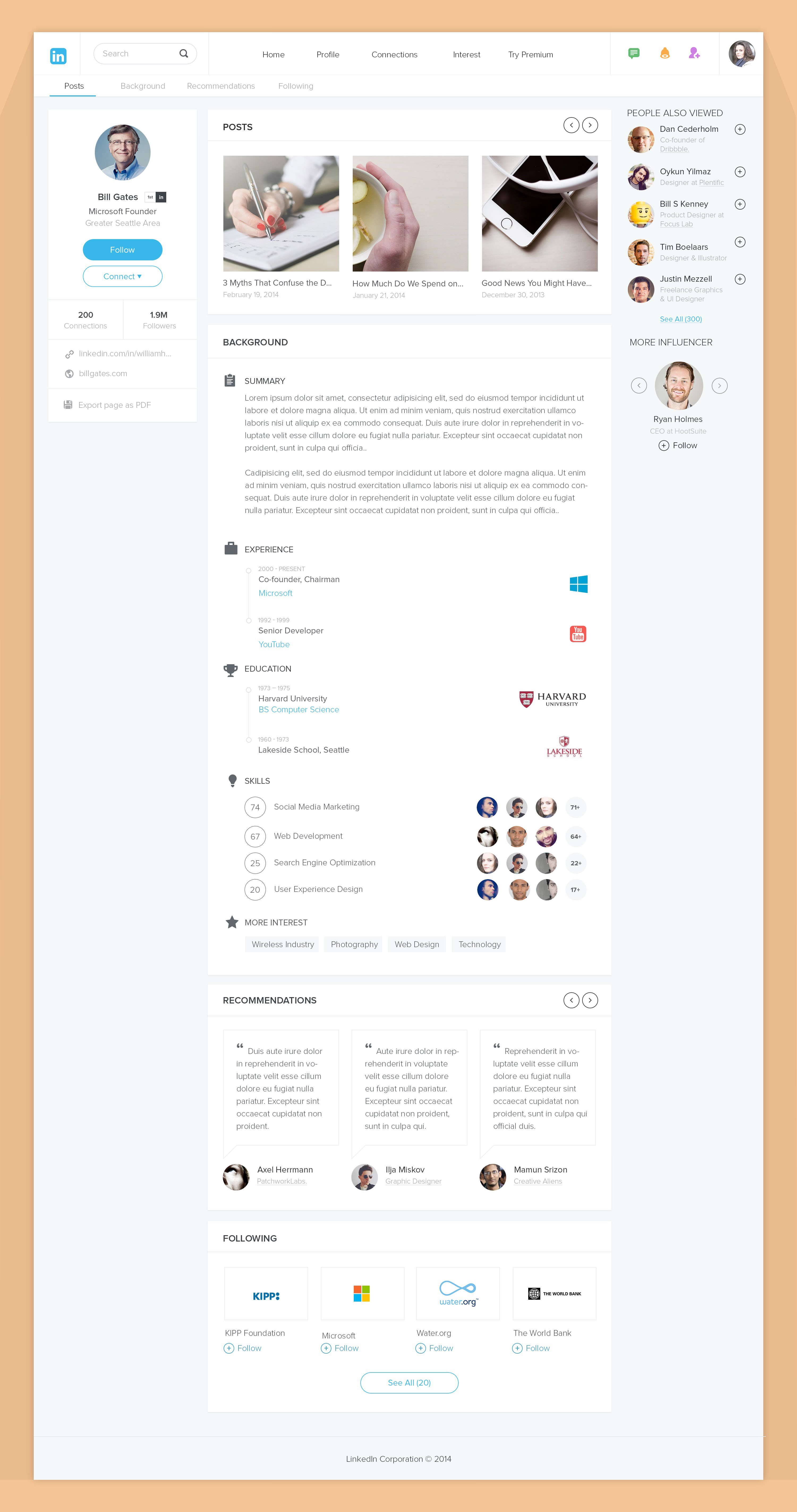 linkedin website redesign