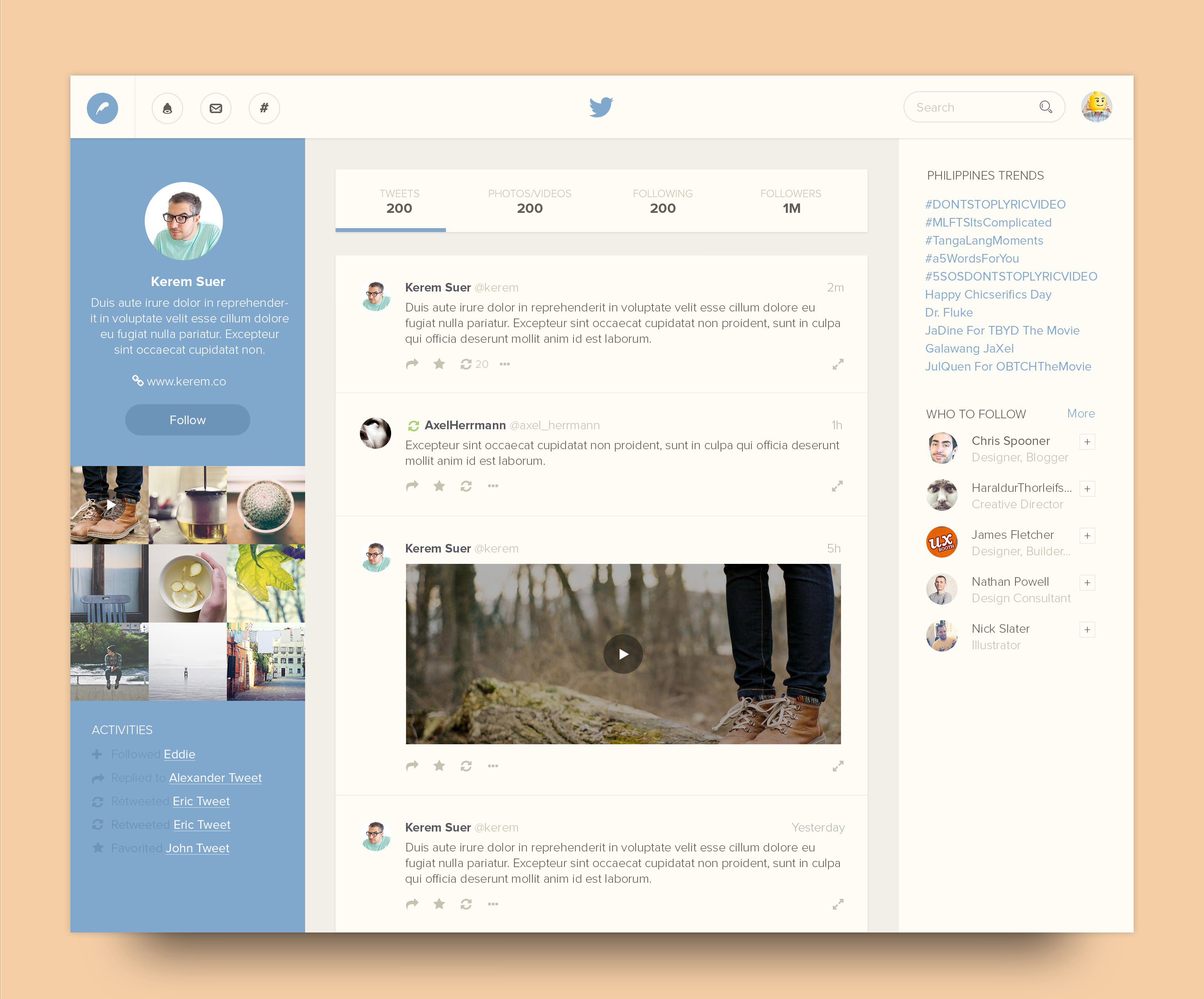 twitter website redesign