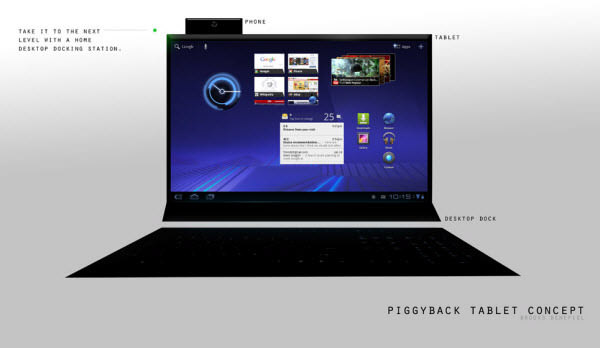 piggyback: desktop dock