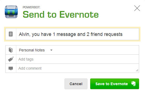 Powerbot Gmail Evernote