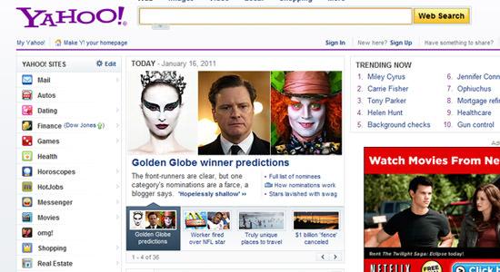 Yahoo! Home Page