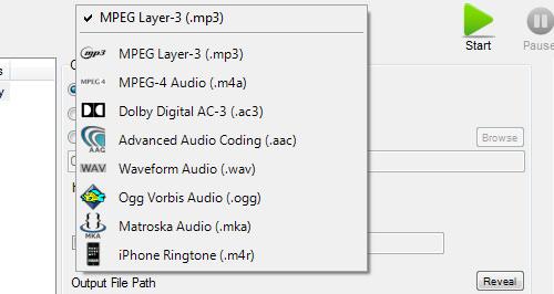 convert audio formats