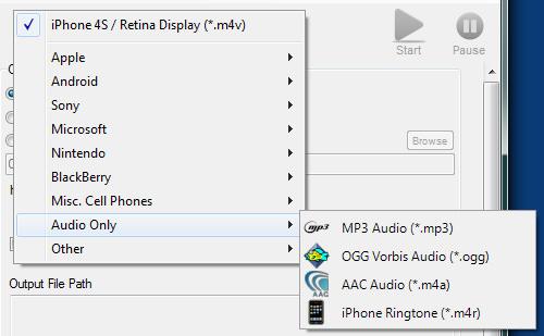 Video to audio