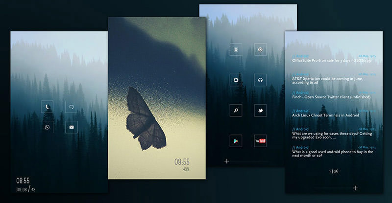 55 Cool Android Homescreens for Your Inspiration - Hongkiat