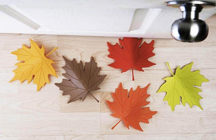 Autumn leaf doorstop