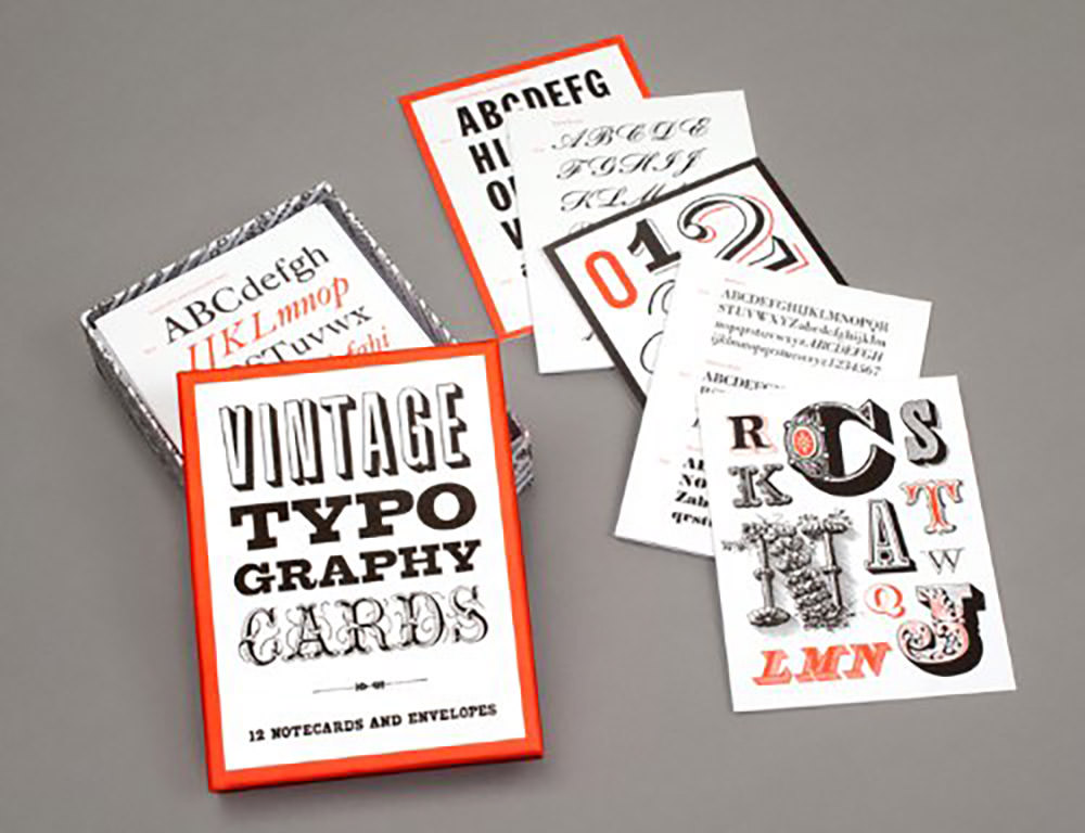 Vintage-Typography-Notecards