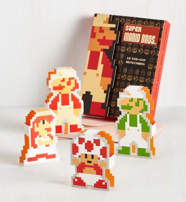 Super Mario Bros 12 Die Cut Cards