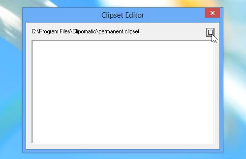 Clipset Editor