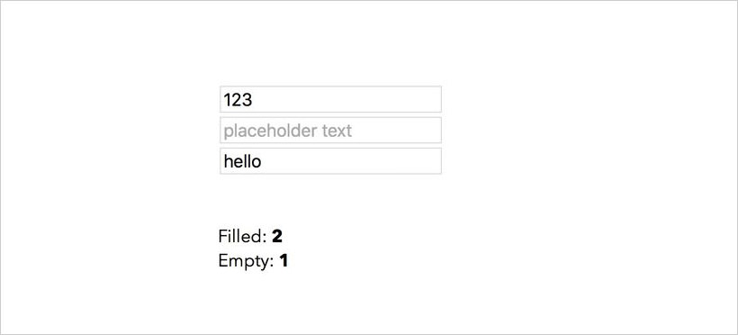 Counting text inputs real-time