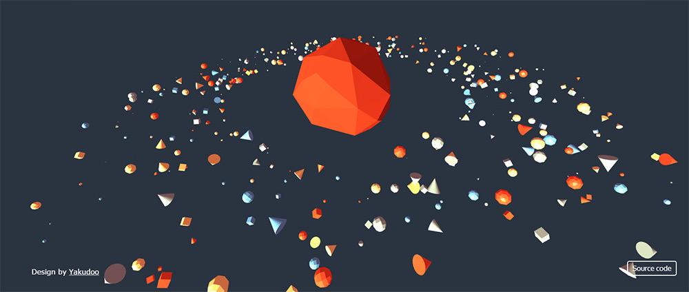 3d orbiting planets