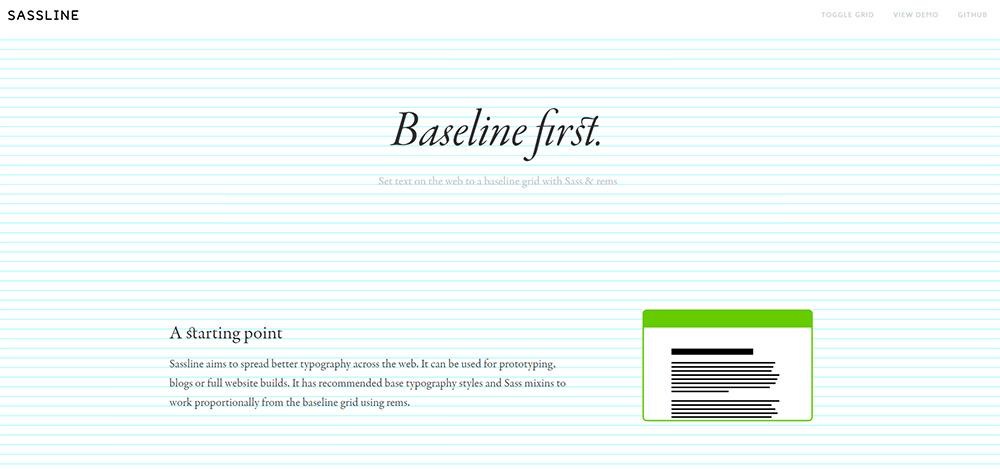 sassline homepage grids