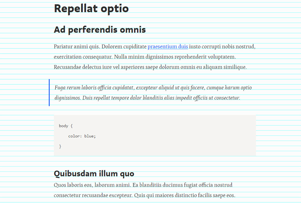 sass typography grid preview