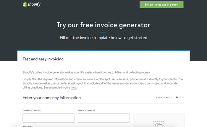 Shopify Invoice Generator  Invoice Maker Online
