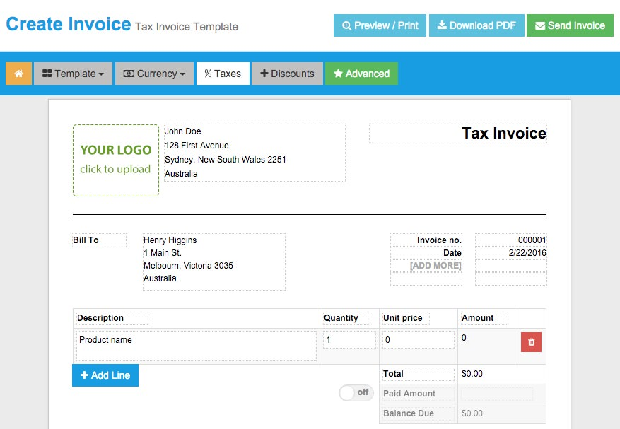 Free Tools To Create Instant Invoices Easily Hongkiat - Copies of invoices for free