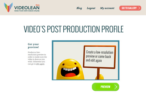 Videolean Post Production Profile