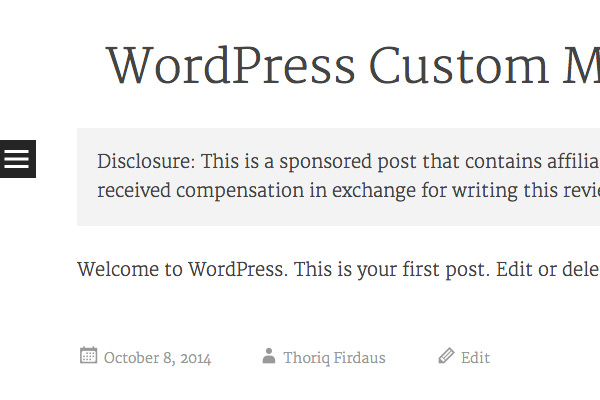 create wordpress custom field