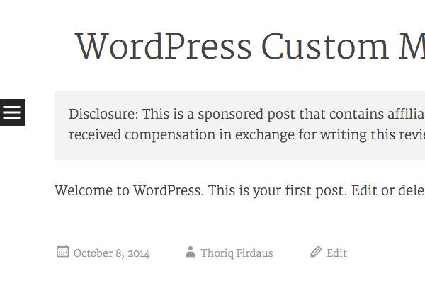 создать настраиваемое поле WordPress