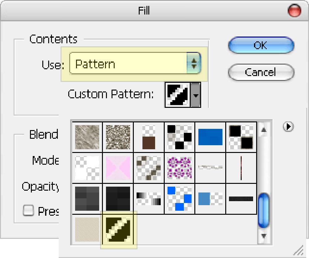 select pattern