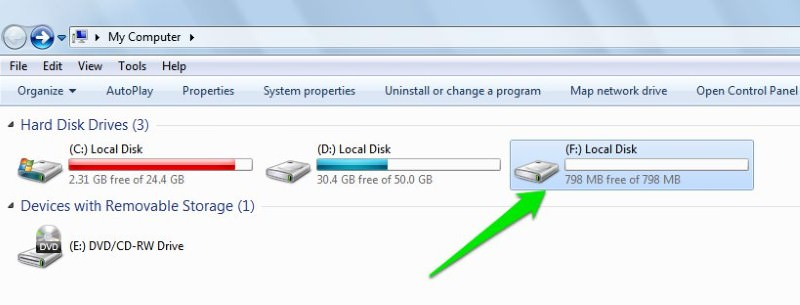select local disk