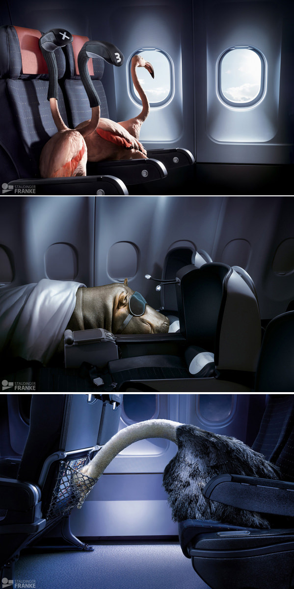 creative aeroplane ads
