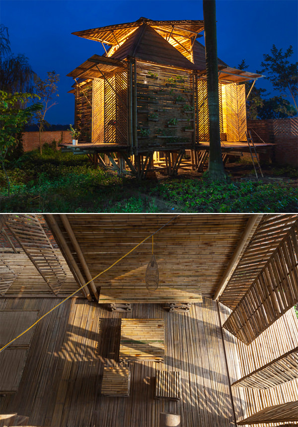 unique architectural designs. Blooming Bamboo Home By H\u0026P Architects. Architects From Vietnam Have Come Up With This Ingenious Design In An Effort To Cope Floods Of 3 Unique Architectural Designs E