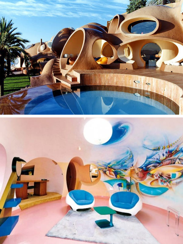 unique architectural designs. Unique Bubble Palace By Antti Lovag. Using The Shape Of Bubbles As Its Design Motif, This Villa In Massif De L\u0027Esterel Simply Looks Gorgeous. Architectural Designs