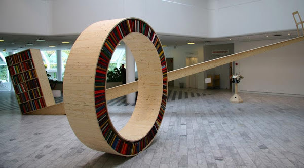 Circular Walking Bookshelf