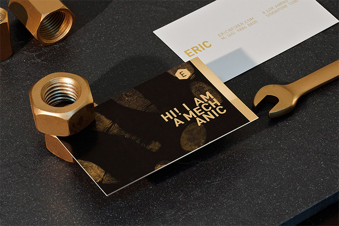 Showcase of cool hipster business card designs hongkiat image kevin he reheart Images