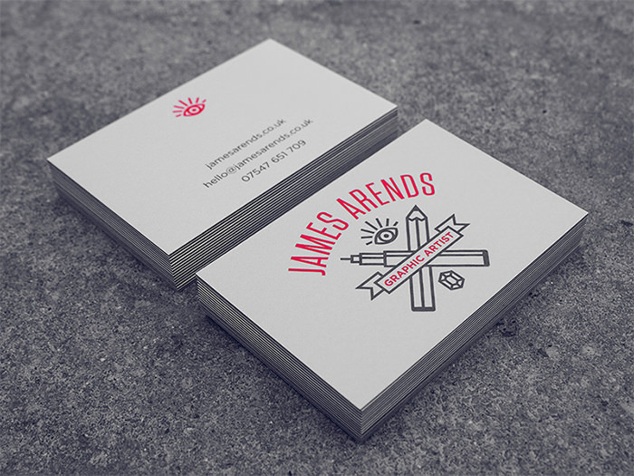 Showcase of cool hipster business card designs hongkiat reheart Image collections