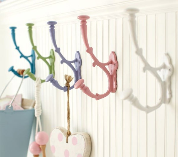 Dropit Hooks. These drop-shaped hooks can add a touch of color to any wall.  You can combine them and create your own unique patterns.