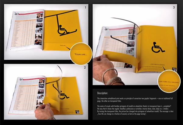 double spread magazine ads