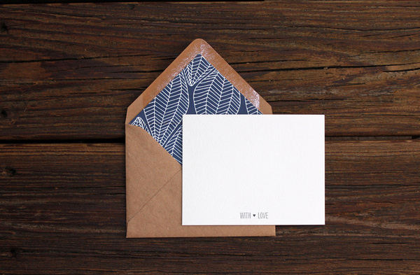 Patterned Envelope Liner