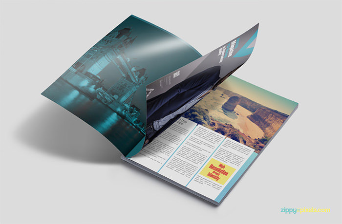 40 Creative Magazine PSD Mockups to Download - Hongkiat