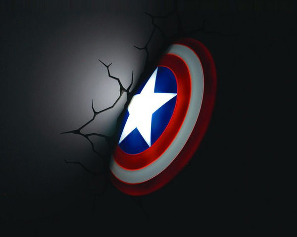 3D Wall Art Nightlight - Captain America